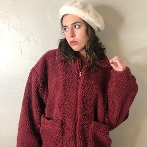 I.AM.GIA burgundy pixie coat